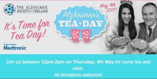 Alzheimer's Tea Day – 4th May, 12pm – 2pm