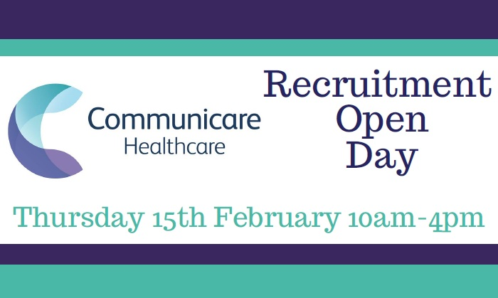 Recruitment Open Day – Healthcare Assistant's & Nurses
