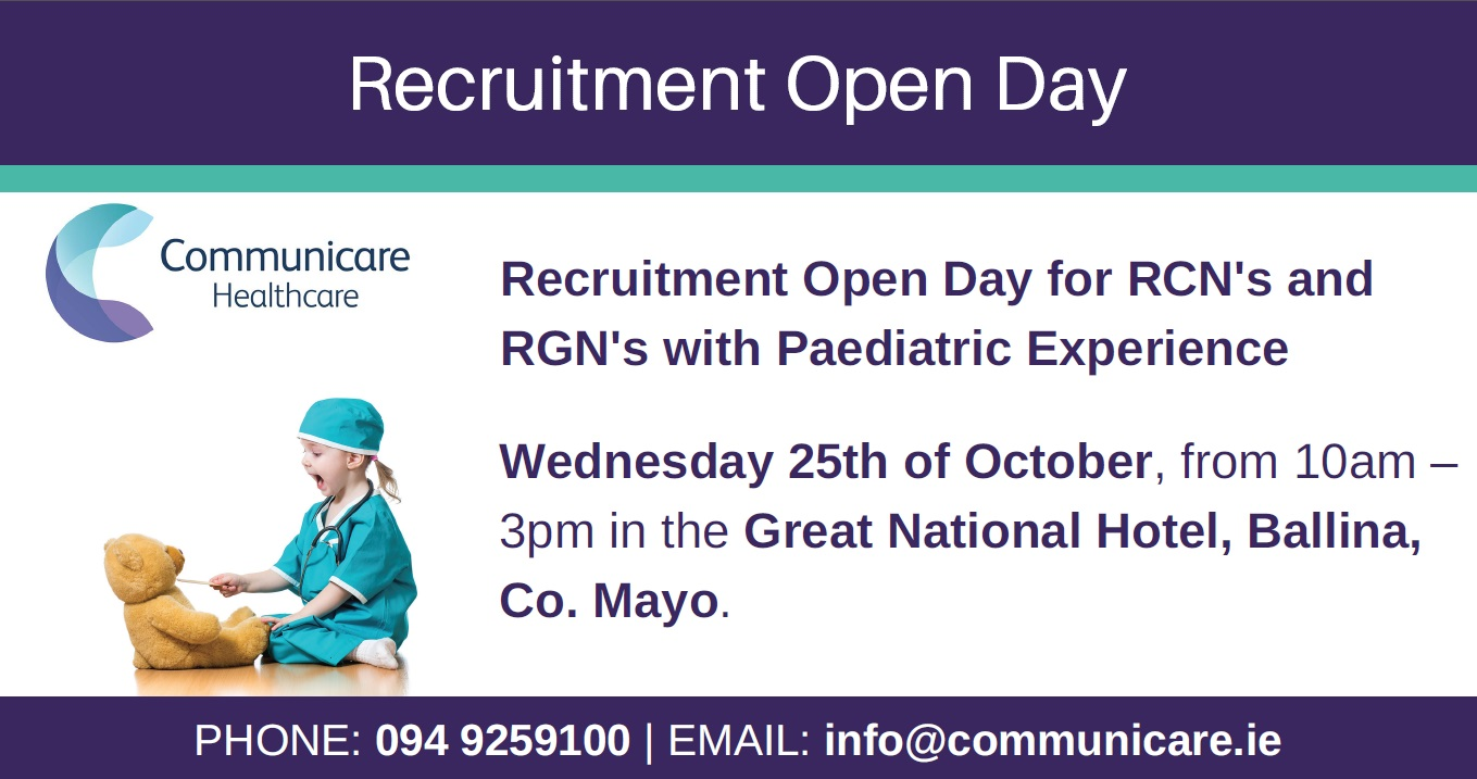 Registered Children's/General Nurse – Open Day