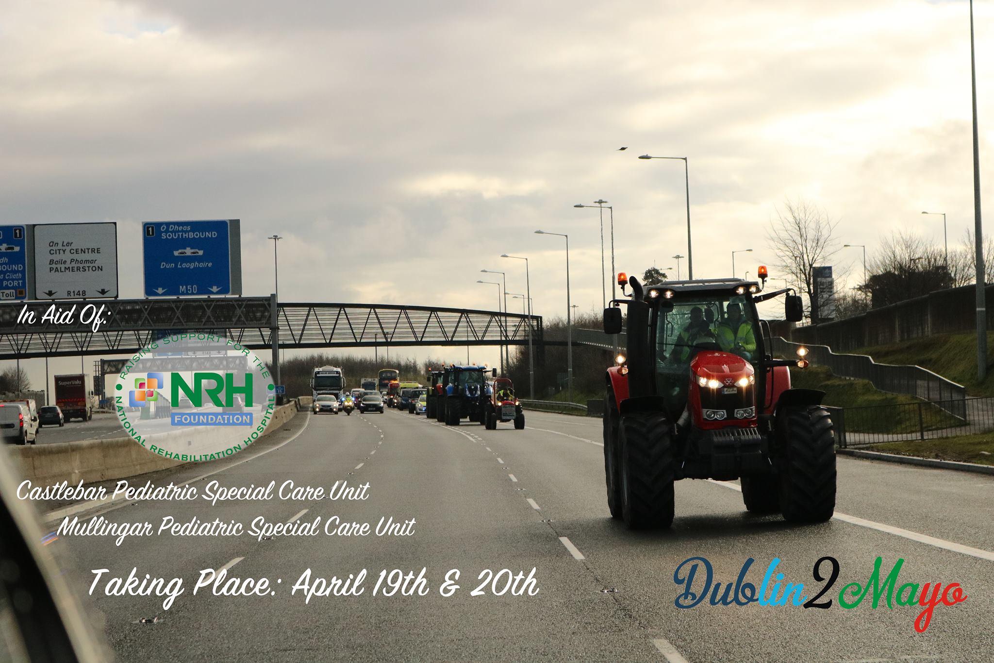 Dublin2Mayo Charity Tractor Run 2019
