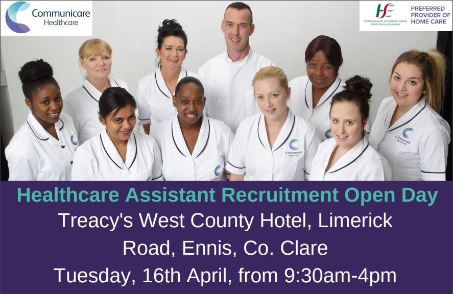 Healthcare Assistant Open Day – Ennis, Co. Clare